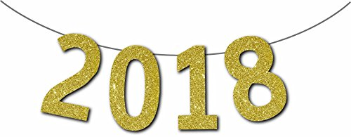 Forum Novelties 98908G Happy New Year 2018 Diamond Banner, Standard, Gold