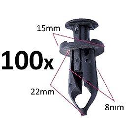 100 Fender Clip 8mm Fits For Honda Trx450 Trx400 Trx350 Trx300 250Ex 300Ex 400Ex