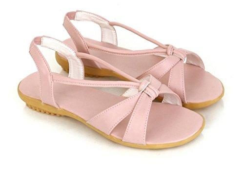 Cómoda 2 Romano Verano Plano Pink Viento Pu Antideslizante Colores Señoras Playa Nvlxie Sandalias Estudiantes Tres Embarazada 5cm nSFw6Cvq