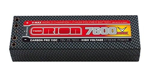 Team Orion Carbon V-Max 7.6V 7600 2S 110C Tubes Battery