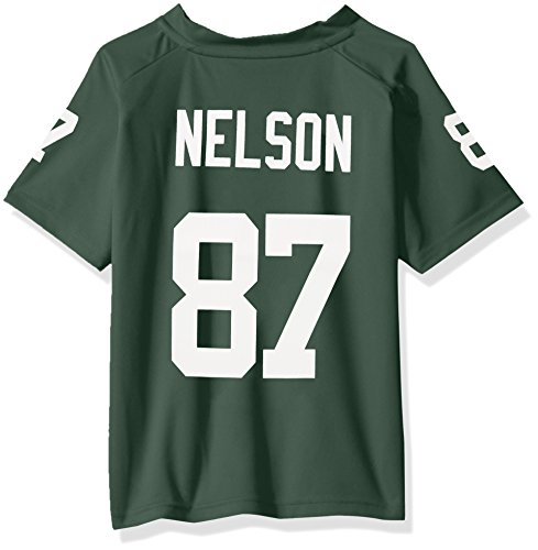 NFL Boys 4-7 Jordy Nelson Green Bay Packers Name & Number V-Neck Tee, Medium/(5-6), ()