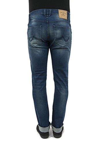 PETROL INDUSTRIES Herren Slim Leg Jeanshose, Einfarbig