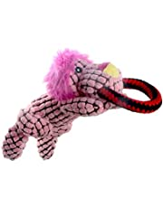 IFOYO Dog Squeaky Toy, Durable Dog Squeaker Toy Cute Animal Shaped Dog Interactive Toy Unique Tough Cloth Stuffed Dog Toy for Boredom