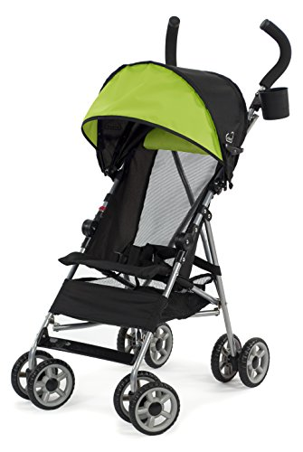 Kolcraft Cloud Lightweight Umbrella Stroller with Large Sun Canopy, Spring Green