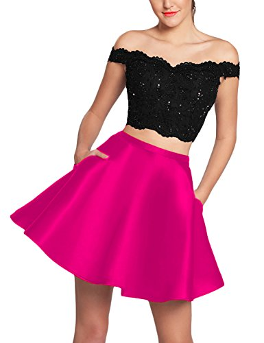 hot pink and black corset dress - 9