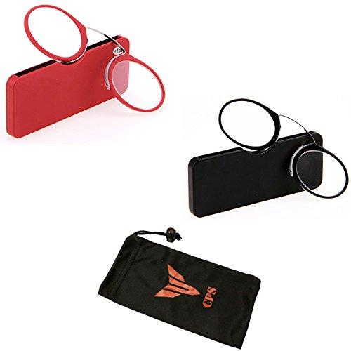 2 Pairs Men Women Unisex Portable Pocket Armless Temple Free (Strength: - Sunglasses Nez Pince