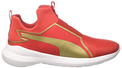 Basses puma Rebel Summer Femme Mid WNS Team Red Sneakers Puma High Rouge Gold Risk 02 SZgwfRqn