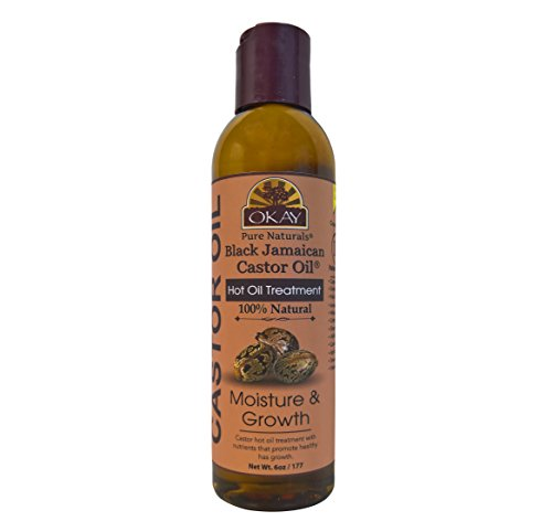 OKAY | Black Jamaican Castor Oil | Treatment for All Hair Types/Textures | Repair, Moisturize, Grow Healthy Hair | Soybean, Palm, Avocado, Wheat Germ, Cottonseed, Grapeseed Oil | 100% Natural | 6 Oz (Vo5 Detangle & Shine Restoring Leave In Conditioner)