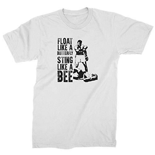 Mens Float Like A Butterfly T-Shirt Medium White
