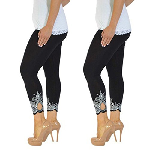 Lookatool Athletic Pants, Women Sport Yoga Print Workout Mid Waist Running Pants