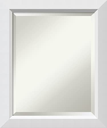 Framed Vanity Mirror Bathroom Mirrors for Wall Blanco White Mirror Frame Solid Wood Mirror Small Mirror 24.00 x 20.00