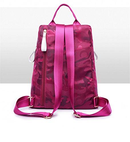 SJMMBB SJMMBB Oxford Handbag red Oxford Burglarproof Canvas Backpack Rose 6xwBxP