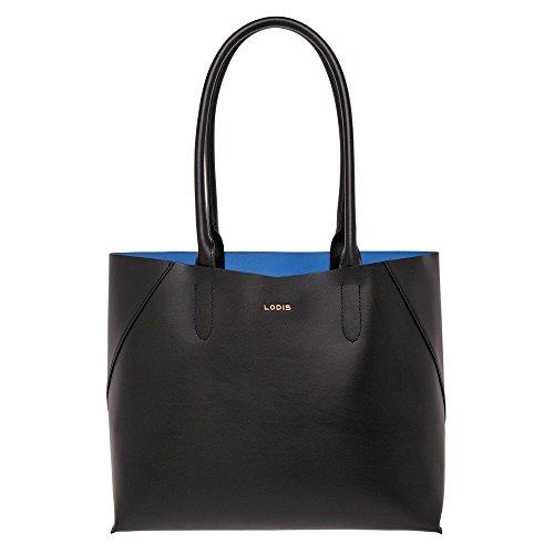 LODIS Women's Cynthia Tote Bag, Black/Cobalt by Lodis