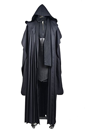 YANGGO Party Robe Costume Halloween Tunic Outfit US Size (Men Large, Darth Black) (Halloween Costumes Party City Kids)