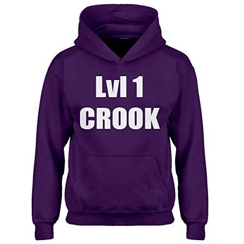 Kids Hoodie Lvl 1 Crook Youth XL - (14) Purple Hoodie ()