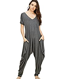 Annabelle Women's Comfy Casual Short Sleeves Harem Long...