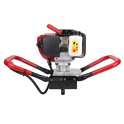 BEAMNOVA 1-Person Earth Auger Powerhead 52CC 2Cycle Engine Gas Post Hole Digger One Man Auger by BEAMNOVA