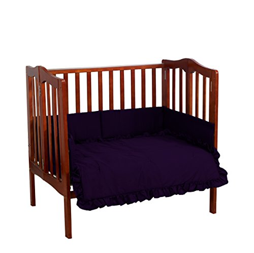 (Baby Doll Bedding Solid Mini Crib/Port-a-Crib Set, Plum)