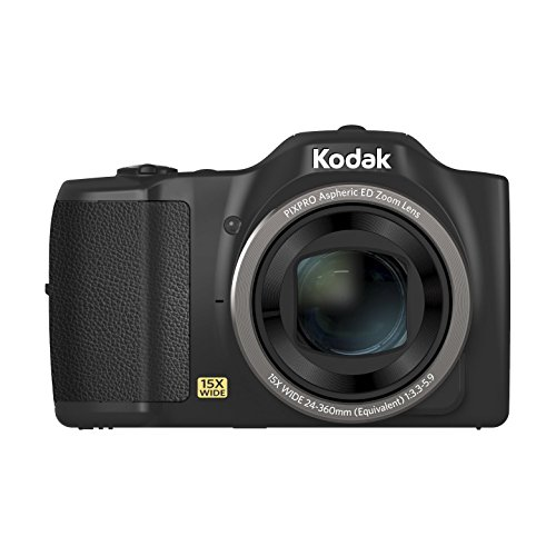 Kodak PIXPRO FZ152 Camera - Black (16MP 15x Zoom 24mm Wide Lens OIS HD)