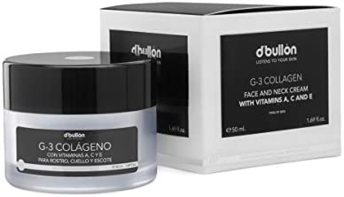 D'Bullón Profesional Crema G-3 Colágeno con Vitaminas A, C Y E Para Rostro, Cuello y Escote