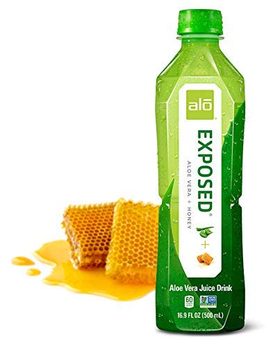 ALO Exposed Aloe Vera Juice Drink, Aloe Vera + Honey, 16.9 Ounce (Pack of 12)
