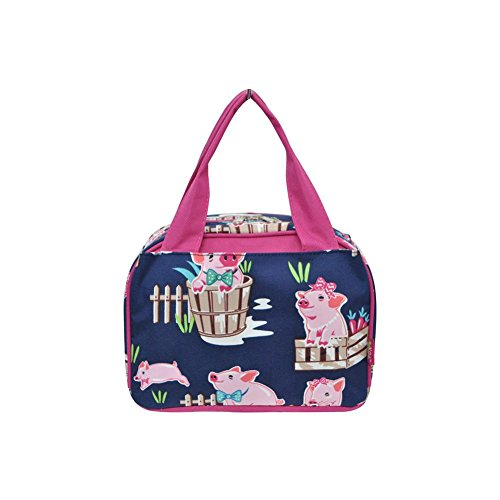 N. Gil Women and Children's Insulated Lunch Bag 2 (Pig Hot Pink)
