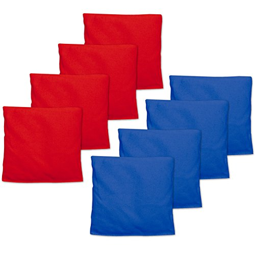 Weather Resistant Cornhole Bean Bags Set of 8 - Red & Blue