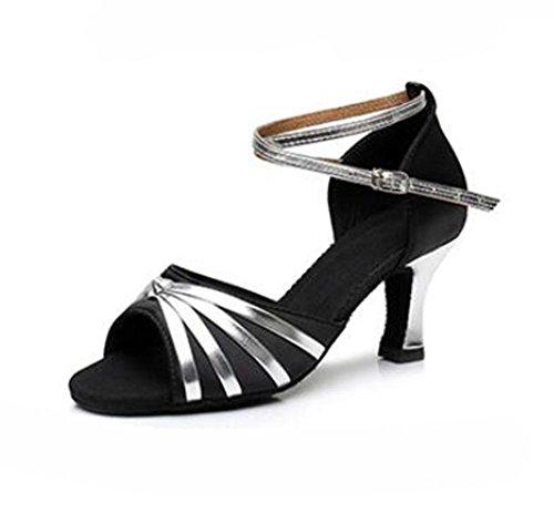 interiores de interior KUKI baile latino boca suaves 3 zapatos mujeres pescado de zapatos cm de de profesional Señoras alto talón 7 las de baile pIpwq