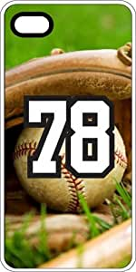 Baseball Sports Fan Player Number 78 White Plastic Decorative iPhone 5/5s Case