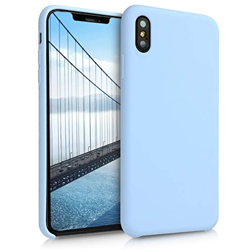 kwmobile TPU Silicone Case for Apple iPhone Xs Max - Soft Flexible Rubber Protective Cover - Light Blue ()