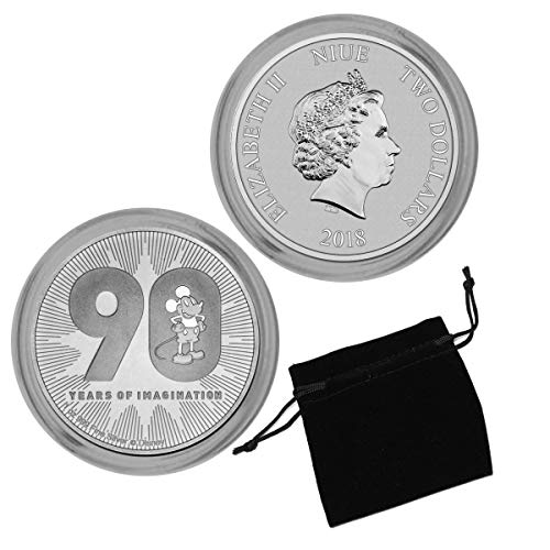 2018 NZ Disney Mickey Mouse 90th Anniversary 1oz Silver Coin $2 Brilliant Uncirculated NZM ()