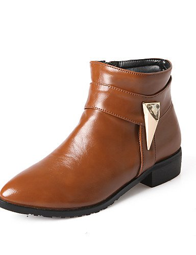 Y 7 5 Cerrada 5 5 us7 Zapatos Botas Eu Cuero Xzz Eu38 De Sintético negro Black Beige Trabajo Uk4 5 Tacón Bajo Casual Puntiagudos Mujer us6 Cn38 Punta Oficina Exterior Eu37 5 Uk5 Cn37 SwRPq
