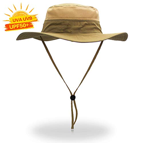 Cimkiz Sun Hats for Men and Women Fishing Hat UPF 50 Sun Protection Breathable Boonie Hat Wide Brim Bucket Hat for Fishing Beach Hiking Gardening Hunting Travelling Golf New Upgraded