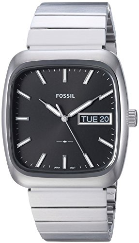 Fossil Men's FS5331 Rutherford Three-Hand Day-Date Stainless Steel (3 Hand Day Date Watch)