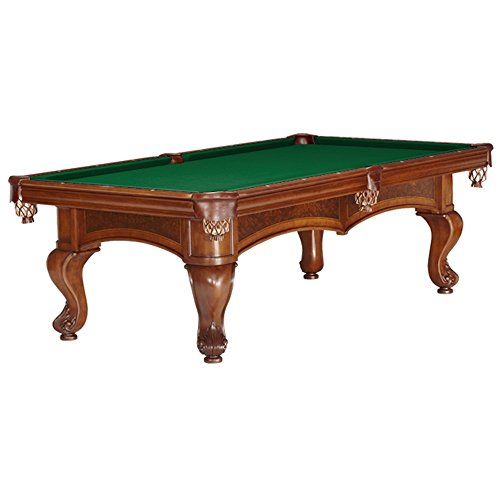 8FT. Brunswick Sutton Chestnut Pool Table with Delivery & Installation Green