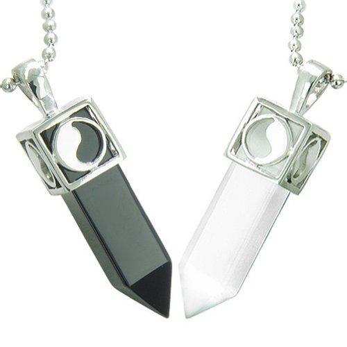 Yin Yang Love Couple Amulets Crystal Poi
