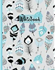 Feathers Notebook: blue feather notebook just for you