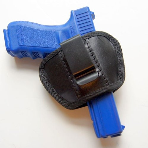 - Universal IWB & SOB Concealed Carry Clip Pistol Holster for Medium & Large Frame Semi-autos. Fits Sig Sauer, Colt 1911, Beretta 92F, Ruger, Glock 17 and M & P Shield