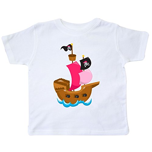 Inktastic - Pirate ship Toddler T-Shirt 3T (Girls Pirate Ship)