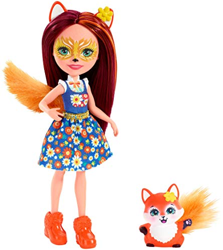 Enchantimals Felicity Fox y Flick, muñeca con mascota (Mattel FXM71)
