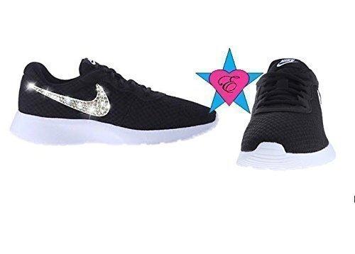 Bling Crystal Sparkle Nike Tanjun -Black by Eshays