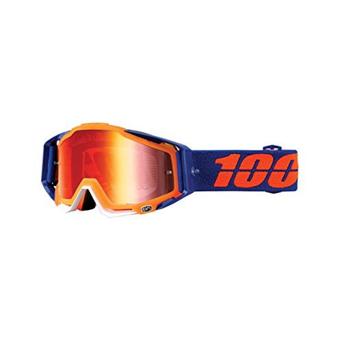 100% Racecraft Goggle - Derestricted with Mirror Red Lens by 100%