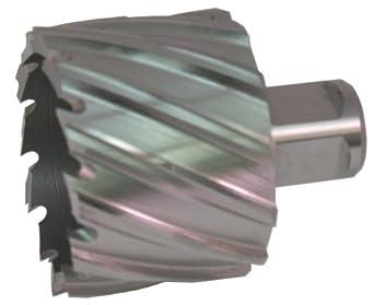 "Jancy Slugger Cobalt Steel Annular Cutter, Uncoated (Bright) Finish, 3/4"" Annular Shank, 1"" Depth"