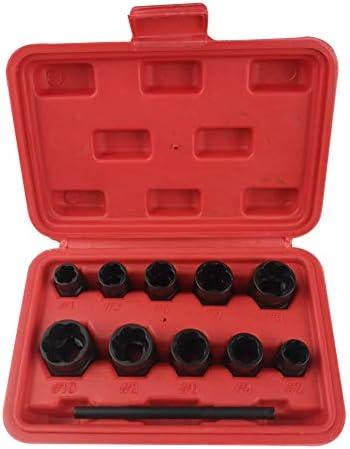 Xincsiwang (11-teilig) Twist Socket Set Radmutter Schraubensicherung Entferner Schraube Extraktor Werkzeuge