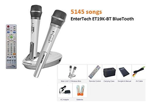 2017 EnterTech Karaoke Magic Sing 5145 TAGALOG ENGLISH SONG ET19K-BT 2 Wireless microphones