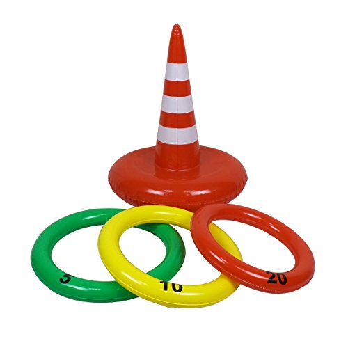 Jet Creations Inflatable Traffic Cone Ring Toss Game, 20
