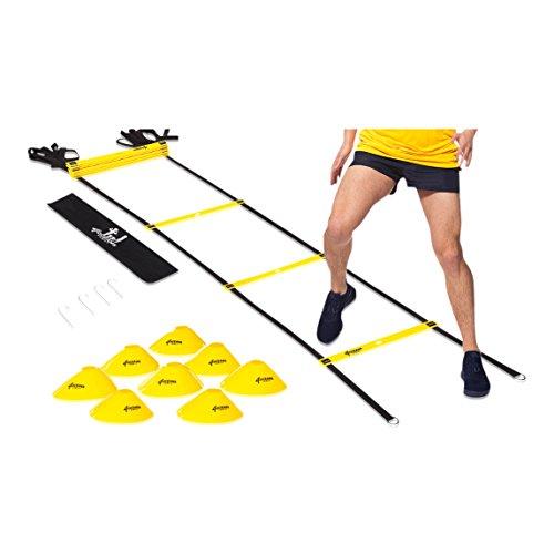 4 OCEANS-FAMILY Agility Ladder Speed Training Equipment by 4 OCEANS-FAMILY