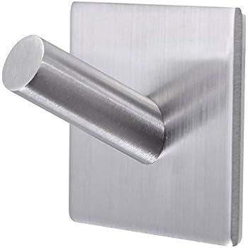bathroom towel hooks 3m self adhesive wall hooks heavy duty stainless steel coat. Black Bedroom Furniture Sets. Home Design Ideas