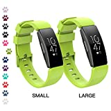 I-SMILE Fitbit Inspire/Inspire HR Bands, Classic Edition Replacement Sport Wristband for Fitbit Inspire/Inspire HR with Buckle, One Size(S & L Bands Included) (Lime(S & L Bands Included))