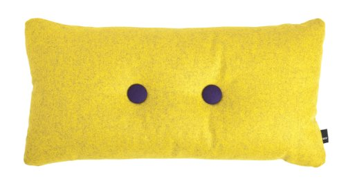 HAY Cushion Dot Cushion Melange Divina   2 X 2 CM Yellow   421?yellow (100%  New Wool: Amazon.co.uk: Kitchen U0026 Home